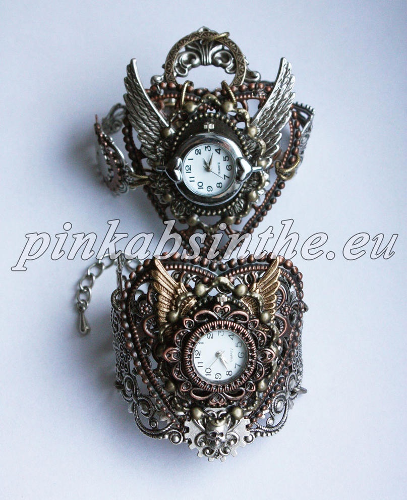 Steampunk watches dis.2013 III by Pinkabsinthe