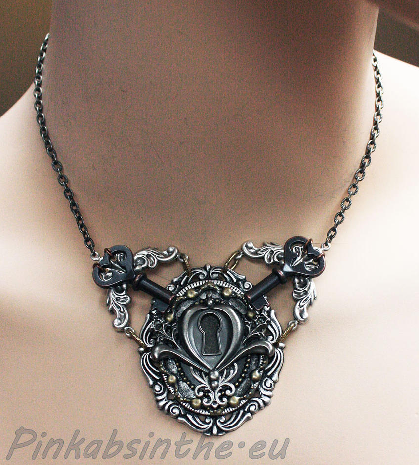 Keyhole chest piece tattoo necklace I by Pinkabsinthe