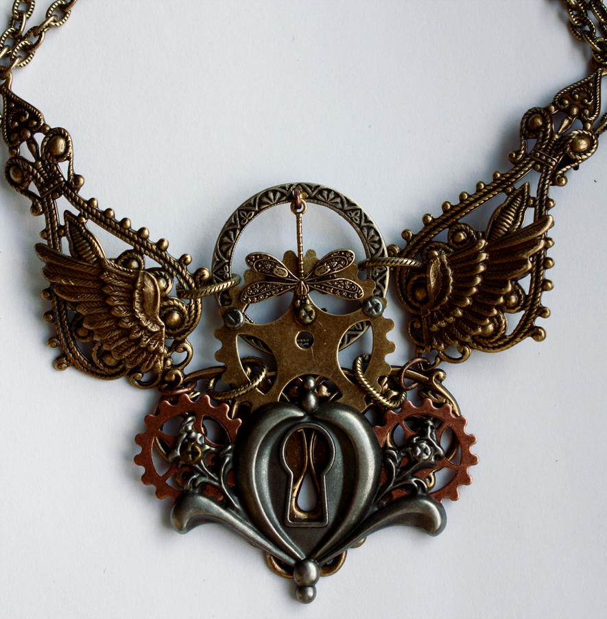 Dis.2013 keyhole gear necklace II by Pinkabsinthe ...