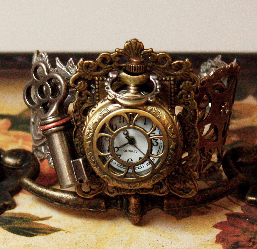 Rococo watch Bracelet II by Pinkabsinthe