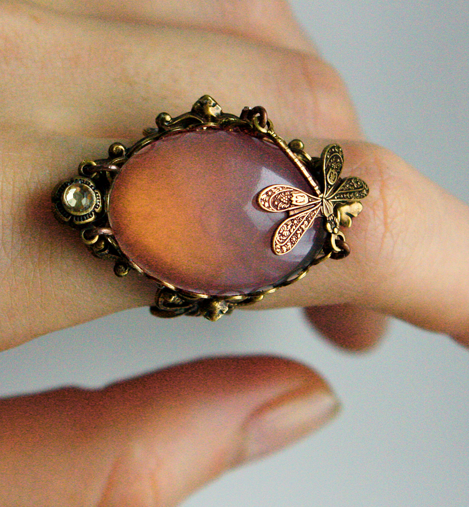 Pale pink fantasy ring I