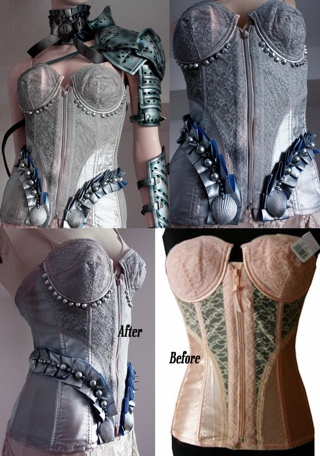 Before and After corset re-styling