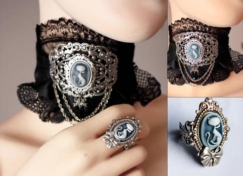 Cute set of choker and ring II