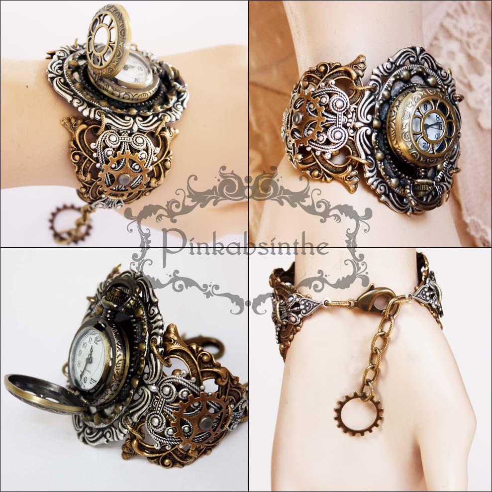 Locket wrist watch I by Pinkabsinthe