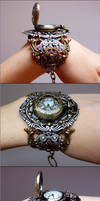 Locket wrist watch III by Pinkabsinthe