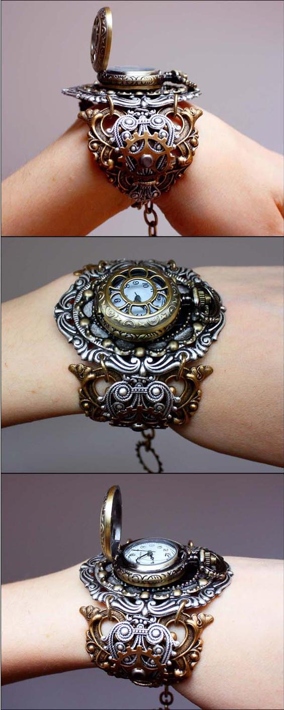 Locket wrist watch III by Pinkabsinthe
