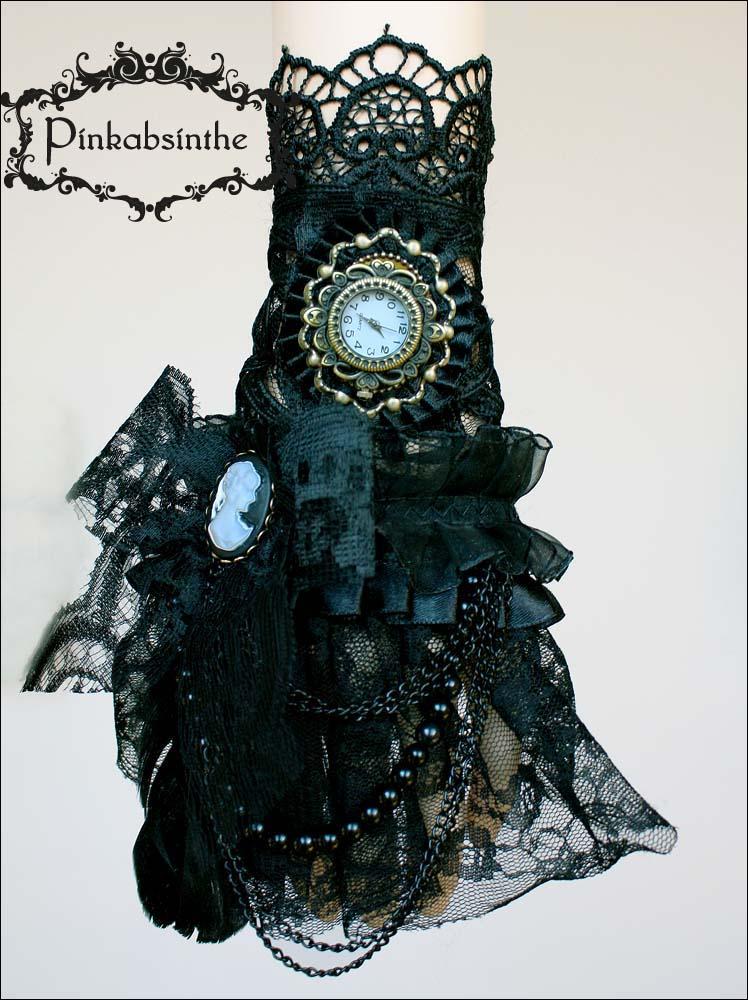 Gothic jabot cuff transformer II by Pinkabsinthe
