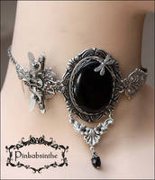 Keyhole dragonfly necklace I by Pinkabsinthe