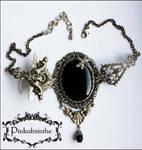 Keyhole dragonfly necklace II