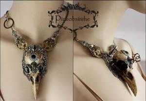 Massive raven skull necklace I