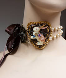 Down the Rabbit Hole necklace I by Pinkabsinthe