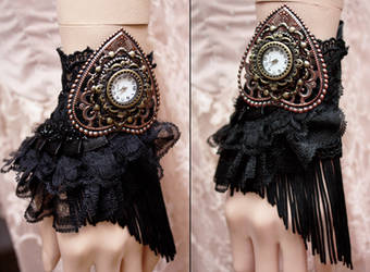 Retro Glamour gothic watch cuff II by Pinkabsinthe