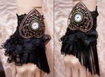 Retro Glamour gothic watch cuff II