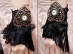 Retro Glamour gothic watch cuff II