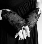 Flourish victorian mittens