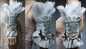 Armor style blue metallic shoulderwrist piece I