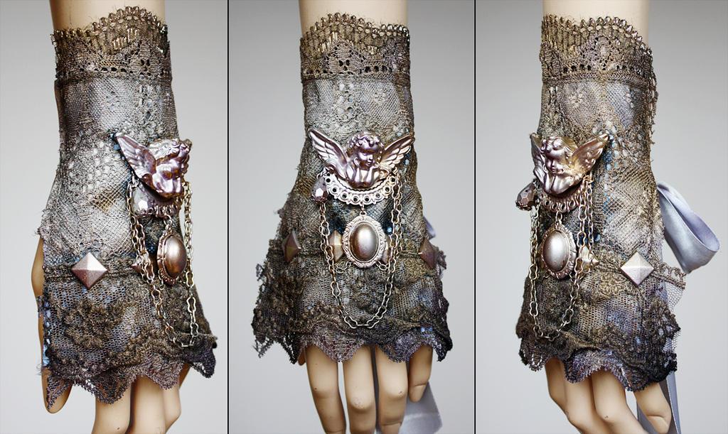 Cherub pearl metallic cuff by Pinkabsinthe