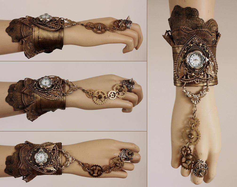 spiked watch cuff I by Pinkabsinthe