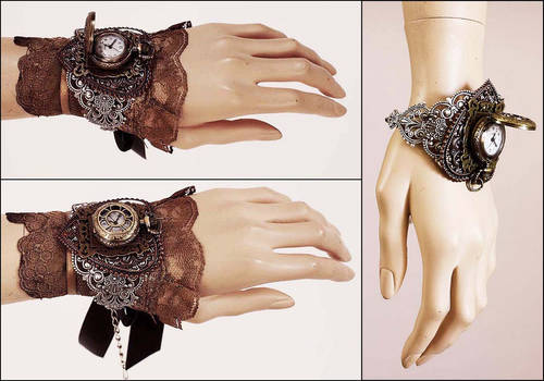 Locket watch cuff