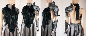 Feather dress and leather armor set III