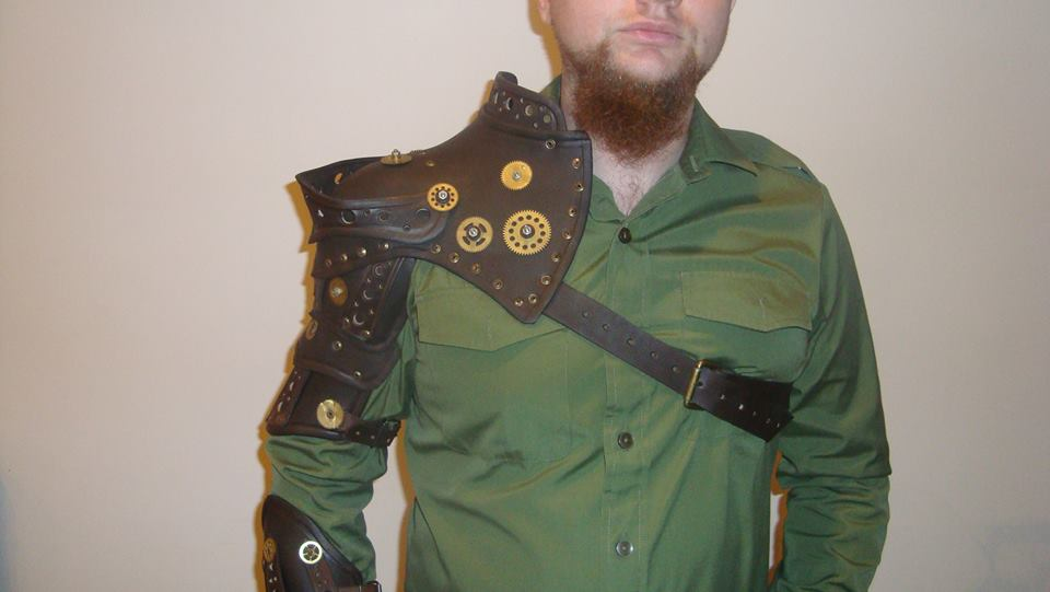 Steampunk real leather armor by Pinkabsinthe
