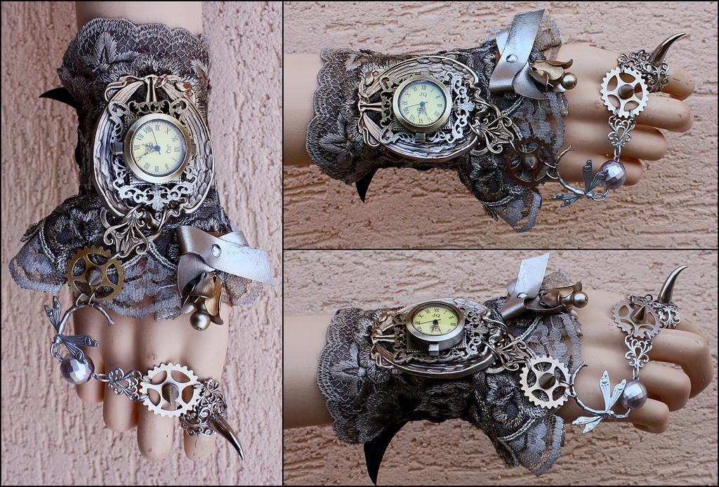 Art Nouveau Claw Cuff by Pinkabsinthe