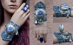 Russian winter cuff and ring set