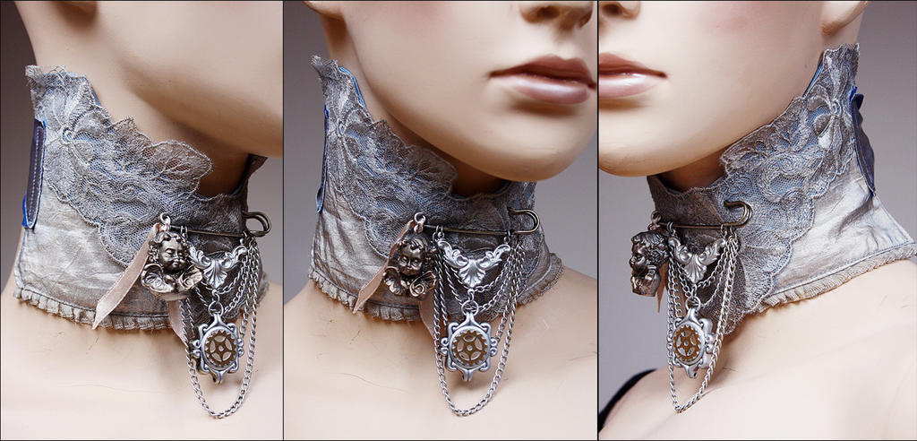 Cherub brooch neck corsage by Pinkabsinthe