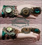 Emerald watch cuff
