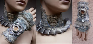 Set collar and cuff by Pinkabsinthe