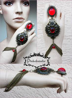 Tribal Vampire bracelet by Pinkabsinthe