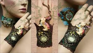 Alice's White rabbit watch cuff