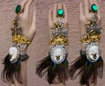 Custom order golden peacock