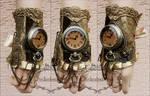 Steampunk locket watch cuff