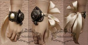 Romantic wedding locket watch cuff