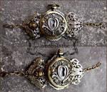 Key hole steampunk watch cuff