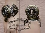 Key hole steampunk watch cuff II