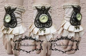 Ivory Cherub watch cuff by Pinkabsinthe