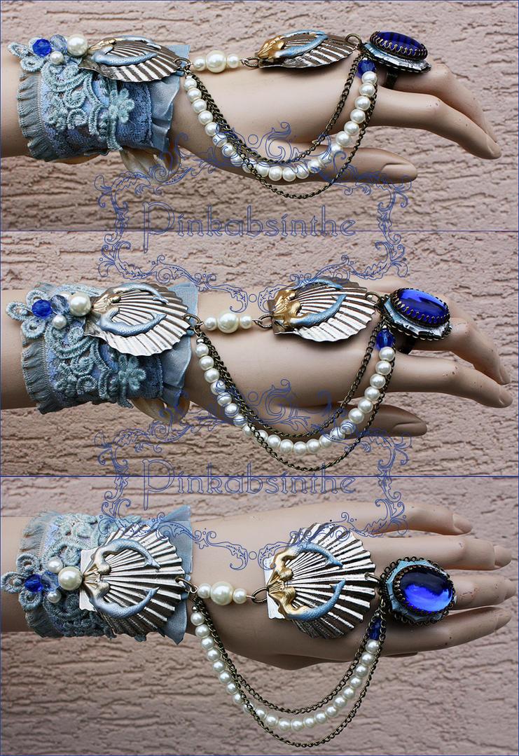 Arctic mermaid bracelet by Pinkabsinthe