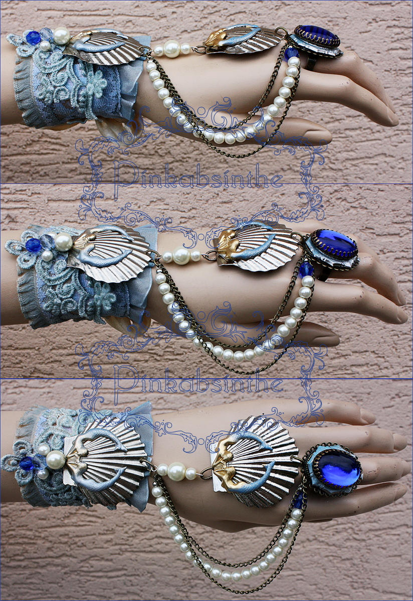 Arctic mermaid bracelet by Pinkabsinthe