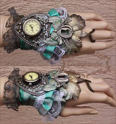 Orchid keyhole cuff by Pinkabsinthe