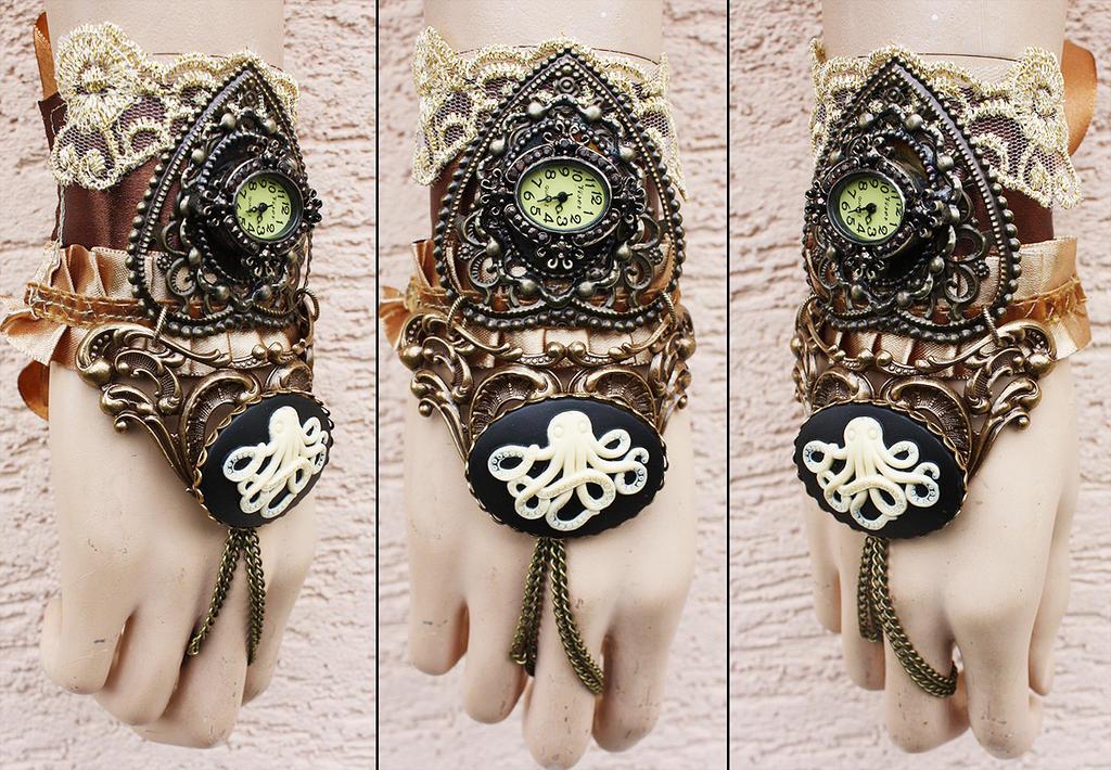 Sale octopus watch cuff by Pinkabsinthe