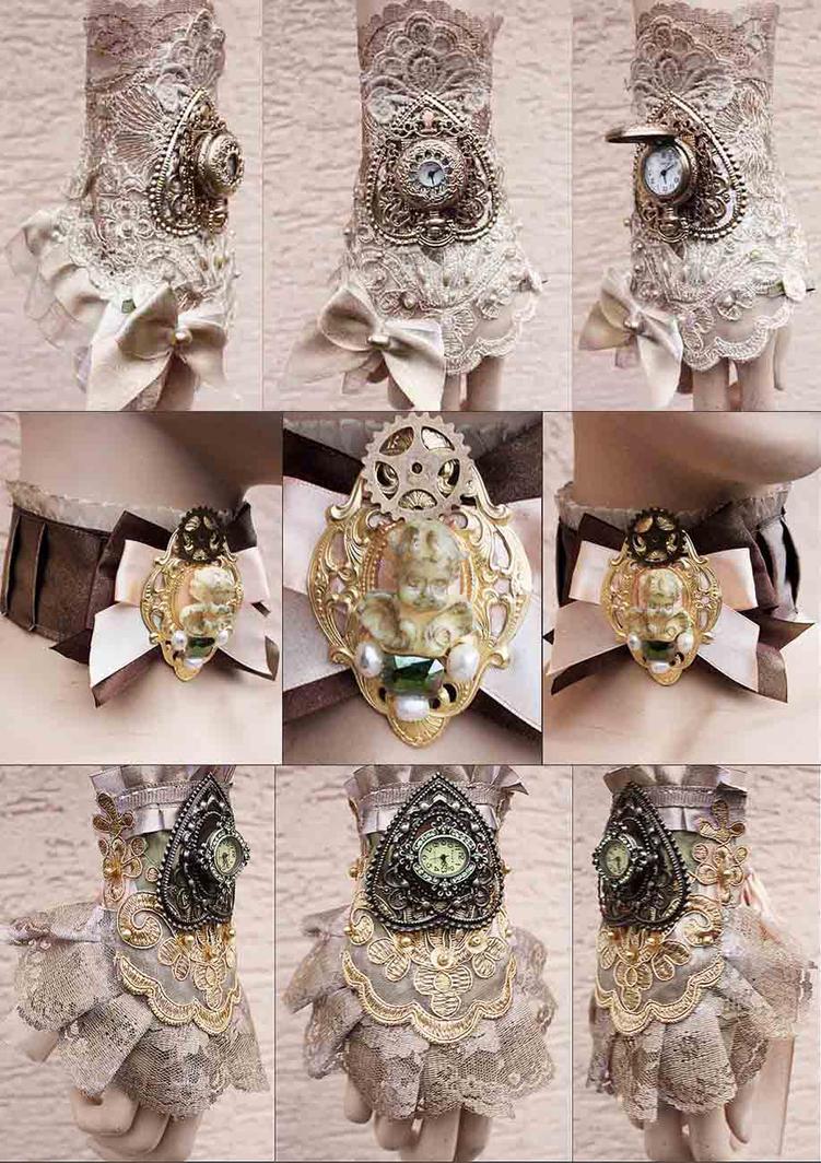 Steampunk Princess accessories by Pinkabsinthe