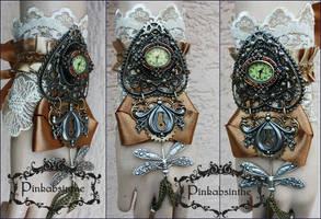 Dragonfly watch cuff by Pinkabsinthe