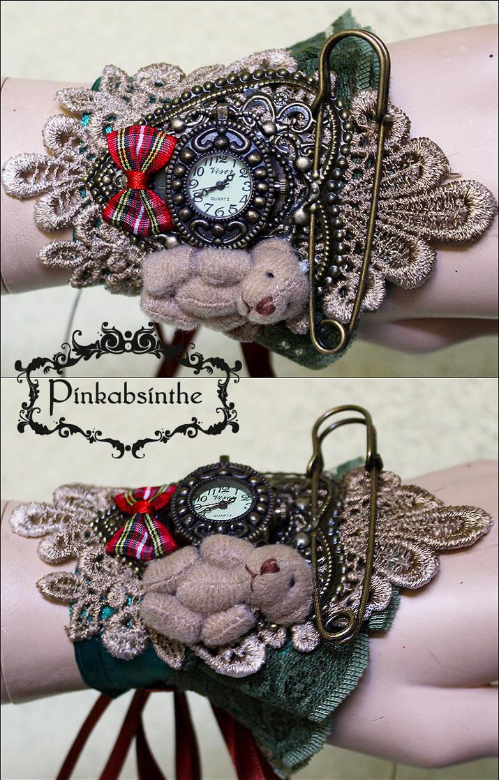 Cute Baby Bear watch cuff by Pinkabsinthe