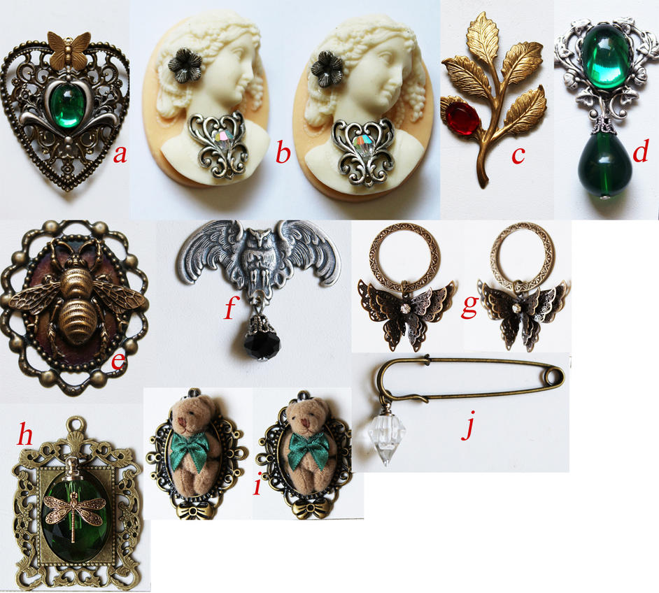 New jewelry supplies by Pinkabsinthe