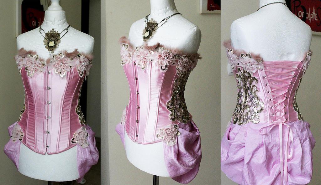 Pink corset by Pinkabsinthe