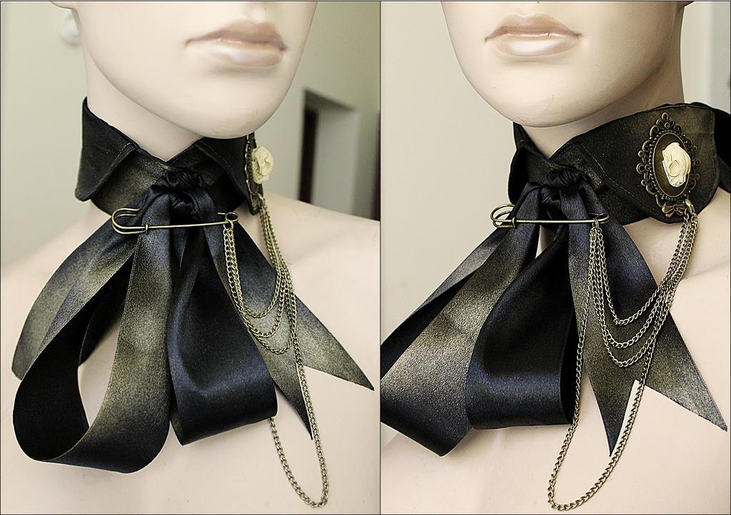 Antique gold Victorian tie by Pinkabsinthe