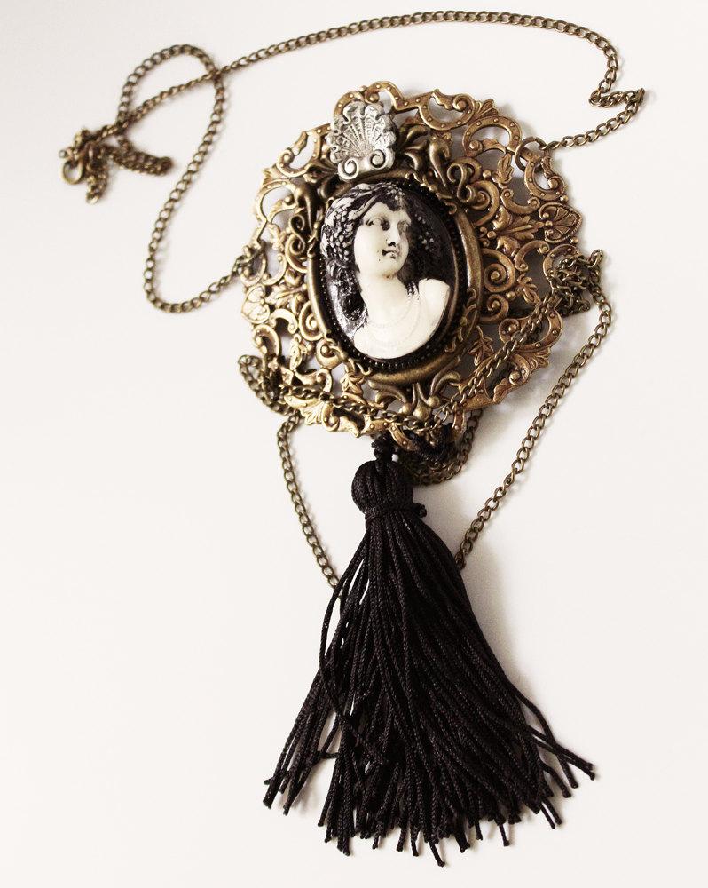 Art nouveau Mucha necklace by Pinkabsinthe
