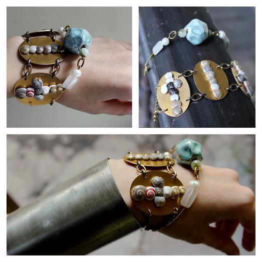 Boho bracelets set ONE OF A KIND by Pinkabsinthe